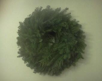 Fresh Christmas Wreath - mixed Evergreen