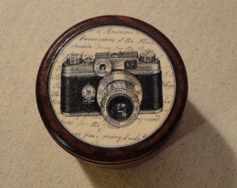 Trinket Box / Powder Box - Vintage Camera