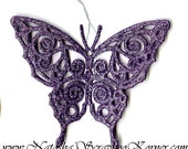 Lilac Butterfly Ornament
