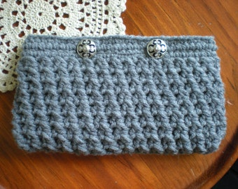 PATTERN:  Crosshatch Clutch, Purse, wallet, Easy Crochet P D F, lining and button closure, InStAnT DoWnLoAd, PERMISSION to SELL