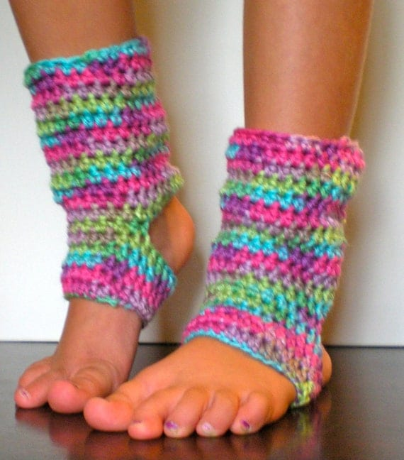Easy Knitting Pattern For Yoga Socks : PATTERN: Kid Yoga Socks, Leg Warmers, Easy Crochet Dance ...