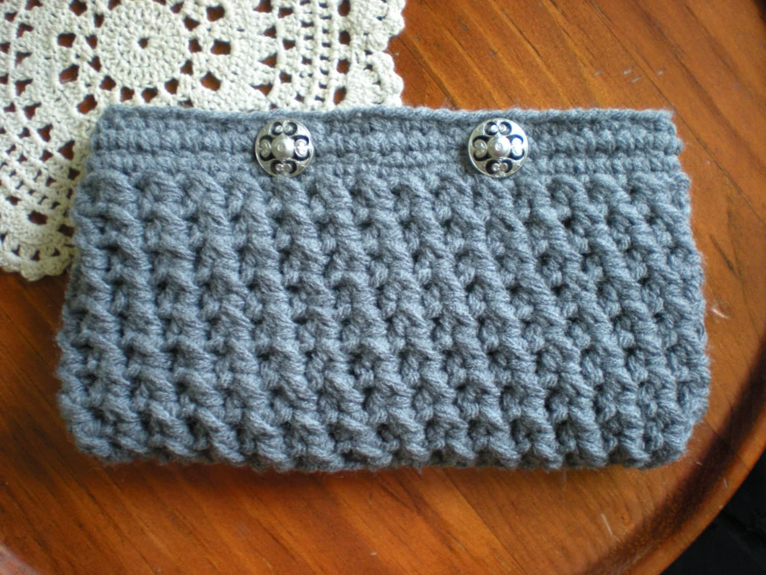 Clutch Bag Crochet : similar to PATTERN: Crosshatch Clutch, Purse, wallet, Easy Crochet ...