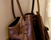 Rich Chocolate Slouchy Boho Chic Brown Leather Handbag