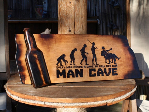 Man Cave Signs Wooden : Man cave sign pyrography art bar signs wooden beer custom