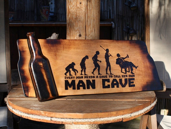 Military Man Cave Signs : Man cave sign pyrography art bar wooden beer custom