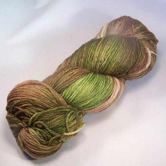 SALE Forest lichen on Nub 100% SW Merino Hand dyed fingering weight sock yarn