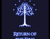 Lord of the Rings 'Return of the King' retro movie poster - 8x10