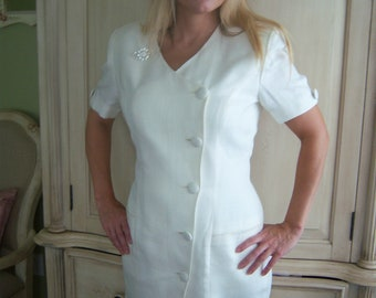 Vintage Ann Taylor White Dress