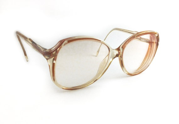 Vintage Amber EyeGlasses for Women with Yellow and Brown Accents