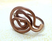 Zen Tangled -  Wire Wrapped Ring - Size 8