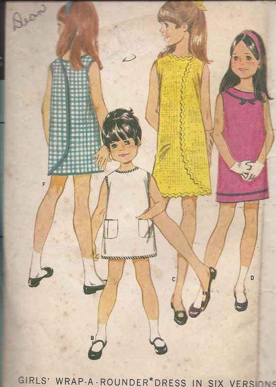 Girls Wrap-A-Rounder Dress, McCall's 9108, size 8