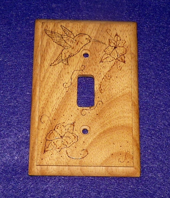 Rustic Single Decorative Wood Light Switch By