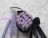 K-02 Cute UK flag Polymer Clay Cane Nail Art Decoration 5pcs