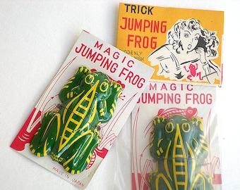 Tin magic jumping frog