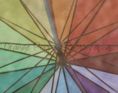 Rainbow Umbrella Photograph *choose your size*