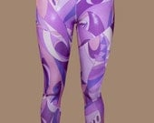 Pucci print, Abstract, paneled,  mod ergonomic handcrafted leggings. Original Design, made to flatter and fit.