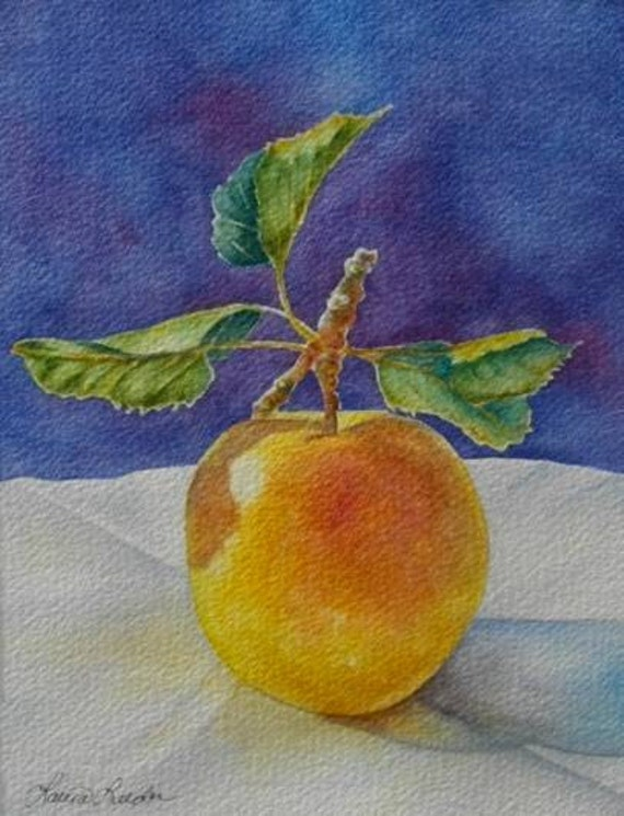 Golden Delicious Apple Reproduction Print Holiday Sale