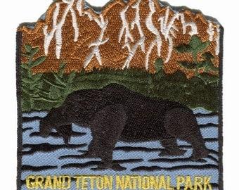 Grand Teton National Park Embroidered Iron On Travel Souvenir Applique Patch
