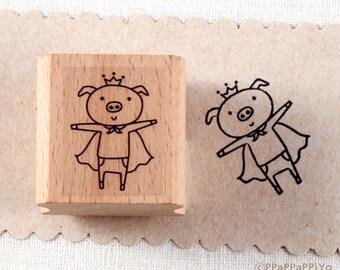 50% OFF SALE Super Pig Rubber Stamp