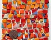 Mosaic tiles: red multi squares