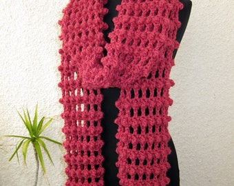 CROCHET SCARF PATTERN, Long Scarf, Fringe Scarf, Chunky Scarf Crochet Pattern, Diy Scarf Crochet, Instant Digital Download Pdf Pattern No.63