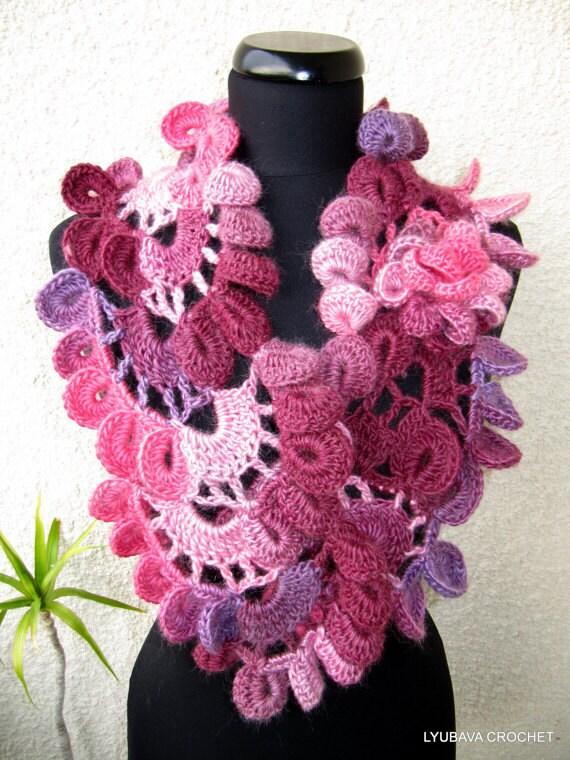 CROCHET PATTERN Scarf, Multicolor Scarf, Diy Crafts, Chunky Scarf, Unique Crochet Scarf Pattern Tutorial Instant Download Pdf Pattern No.52
