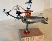 Assemblage Robot Sculpture: Jobot