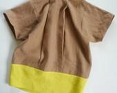 front pleat linen top
