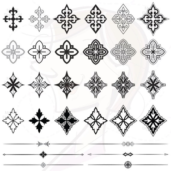 Easter Cliparts Decorative Crosses Png Graphics By