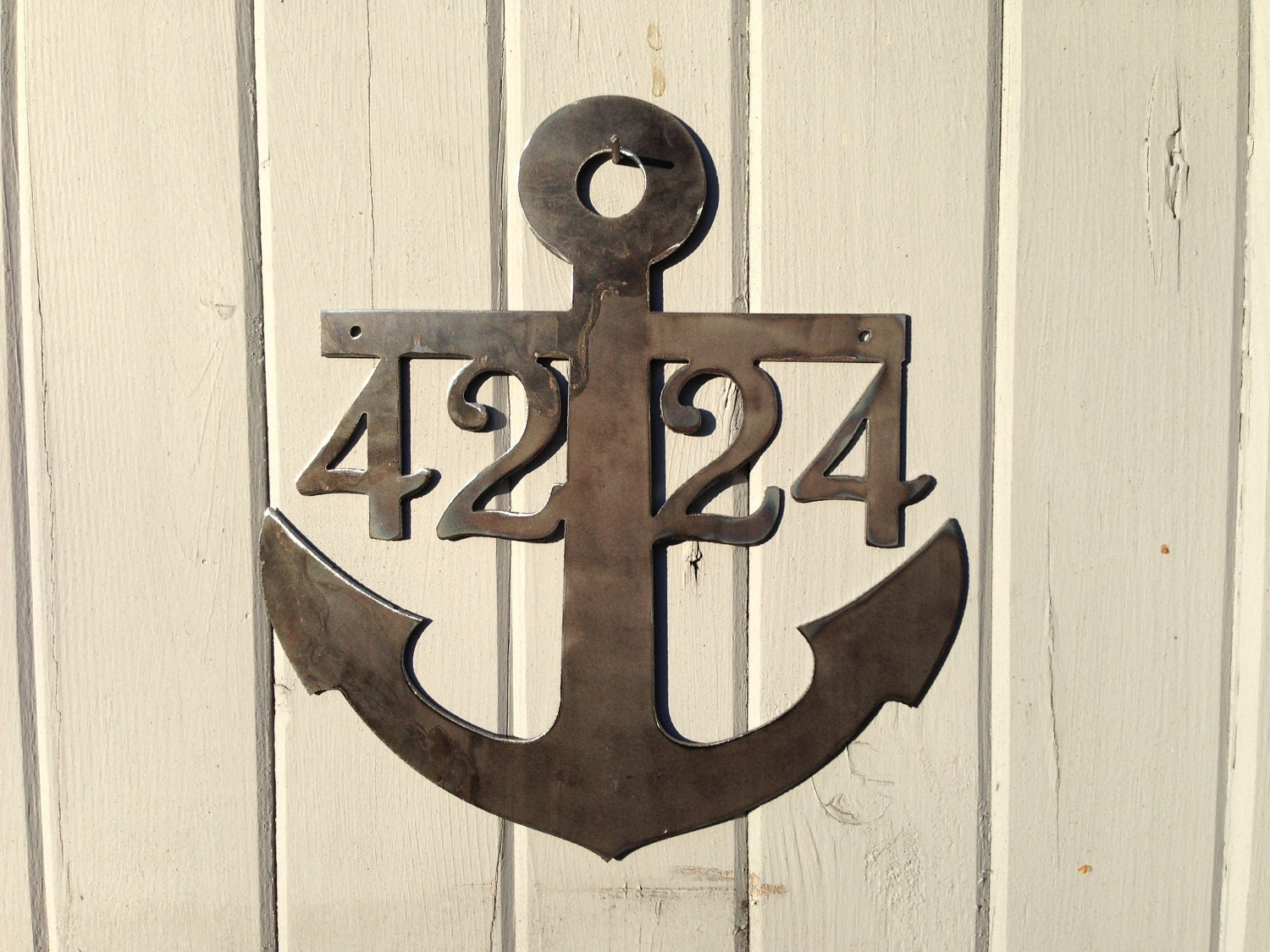 Anchor House Numbers Anchor Signs Beach Themed Ocean