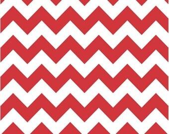 Medium Chevron Red by Riley Blake Designs half yard cut