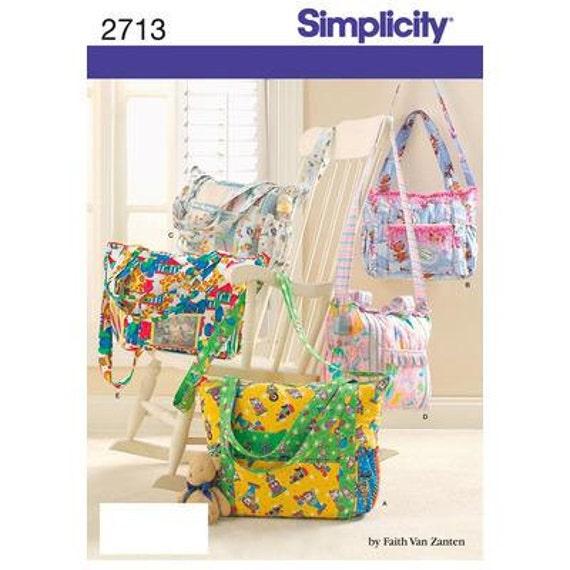 simplicity sewing pattern 2713 diaper bag by mybrokenwindows. Black Bedroom Furniture Sets. Home Design Ideas