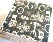 Black Vintage Wallpaper Inspired Coaster Single Mix and Match