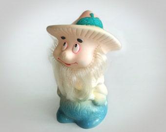 Vintage Rubber Toy Kind Forester, Soviet Toys
