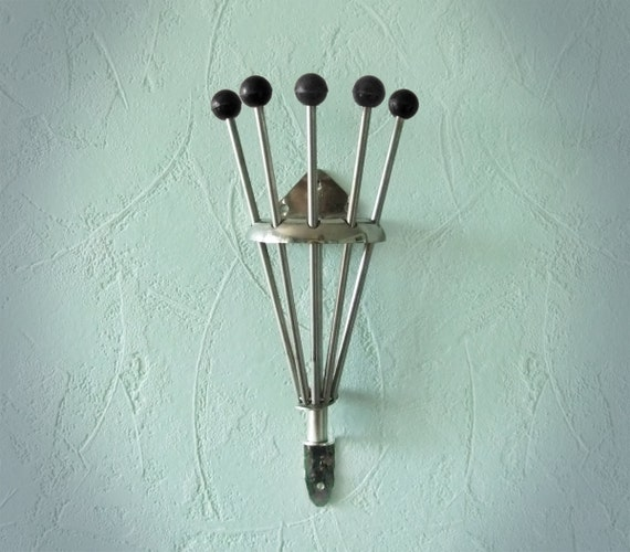 vintage folding wall hanger multi hook pegs by