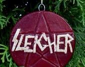 handmade wax heavy metal holiday ornament
