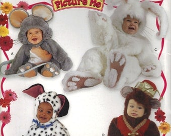 Simplicity Costume Sewing Pattern 0622 (aka 4458) - Toddlers' Animal Costumes (.5-4)