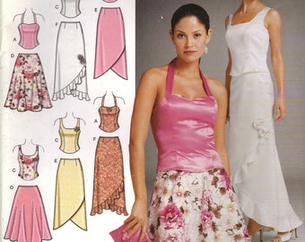 Simplicity Sewing Pattern 0653 (aka 4990) - Misses' Evening Tops, Skirts, and Purse (6-12)