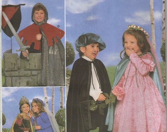 Simplicity Costume Sewing Pattern 5883 - Child's Renaissance & Fantasy Costumes (3-8)