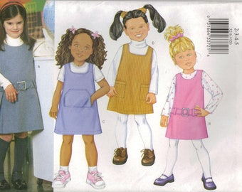 Butterick Sewing Pattern 3216 - Children's/Girls' Jumper (6-8)