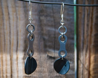Recycled BIke Chain Earrings