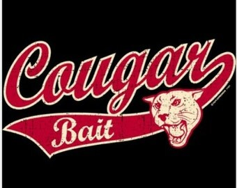 Cougar Bait Black T-shirt New Sizes S-2X FREE SHIPPING