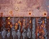 Abstract Fine Art Photography Industrial Rust Still Life Color - Ocean Meets Shore 8x12