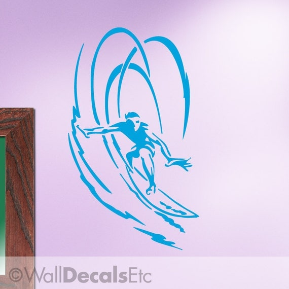 Vinyl Wall Decal: Extreme Sports Surfer Dude ES043