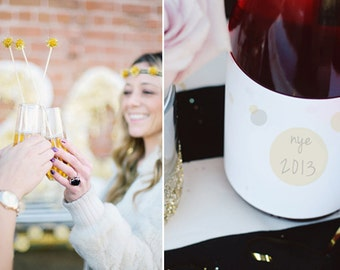 Instant Download - Retro Chic New Year's Eve Party Printables for celebrity Lauren Conrad