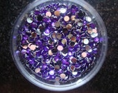 Rhinestones,1000 pieces Flat Back 14 facet,3mm ,deep purply