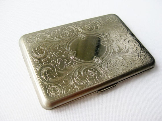 Vintage Cigarette Case Silver Tone from Germany