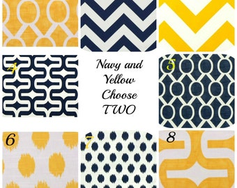 Decorative Pillow Covers Throw Pillow Covers 20x20 Navy Pillow Covers Yellow Pillow Covers Chevron Pillows Cushion Covers Accent Pillows