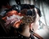 Steampunk Industrial Meets Nature Headdress