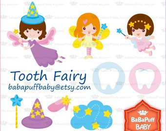 Buy 2 Get 2 Free ---- Tooth Fairy Set 2 ---- Personal and Small Commercial Use ---- BB 0197